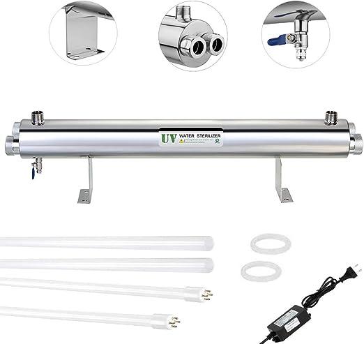 110W UV Purificador del esterilizador de agua 5.4m3 / Hr (24GPM ...