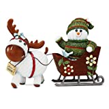 The Socking's by Pavilion Gift, Welcome Winter, Snowman and Moose with Sleigh, 6-Inch by The Sockings