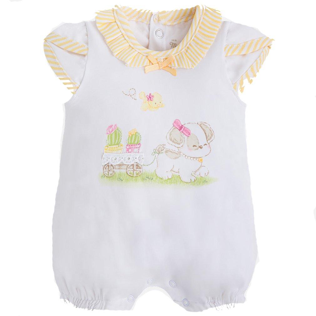 Mayoral - Pelele para Dormir - para bebé niña Bianco E Giallo 2-4 Meses: Amazon.es: Ropa y accesorios