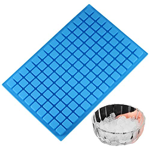Silicone 126-Cavity Ice Cube Tray Molds,Cake Molds Non-Stick for Making Homemade Chocolate Candy Gummy Jelly(Random Color) -