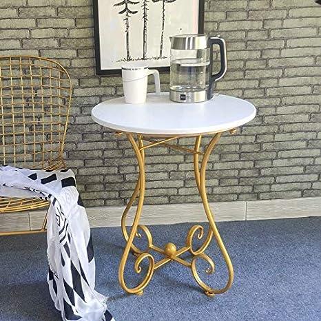 CIGONG - Mesa de café pequeña de Hierro, Mesa Redonda pequeña Tipo ...