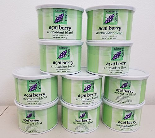 Clean + Easy Hard Wax, Acai Berry, 14 Ounce (Pack of 10) by Clean + Easy