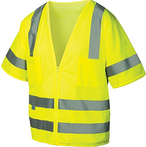 Pyramex RVZ3110XL Lumen X Class 3 Safety Vest, X-Large, Hi-Vis Lime ()