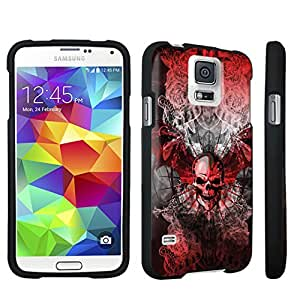 DuroCase ? Samsung Galaxy S5 Hard Case Black - (Skull Wings Red)