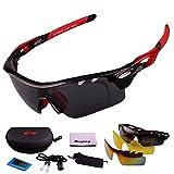 Polarized Sports Men Sunglasses Cycling Glasses Mountain Bike Eyewear 3 Lens