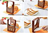 Product review for Vangoddy Compact Storage Foldable DIY Home Make Bread Toast Cutter Slicer with 4 Thickness Adjustable (Brown)