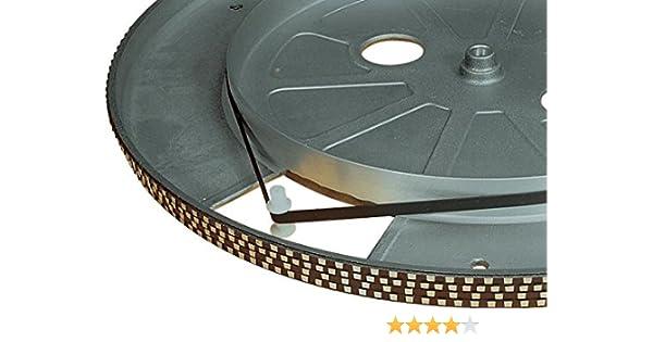 Electrovision - Correa para tocadiscos (175 mm), color negro