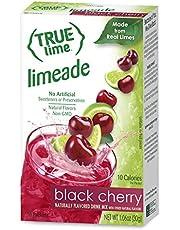 True Citrus Lime Limeade Stick Pack, Black Cherry, 10 Count (1.06oz), red