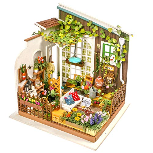Fairy Playset - Rolife DIY Miniature Dollhouse Set-Model Building Kit to Build-Assembly Garden Fairy House-3D Wooden Puzzle Playset-Home Decor-Unique Birthday Mothers Day for Boys Girls Friends Mom Women (08 Garden)