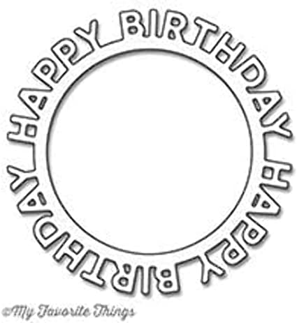 HAPPY BIRTHDAY circle # 2 die cuts scrapbook cards