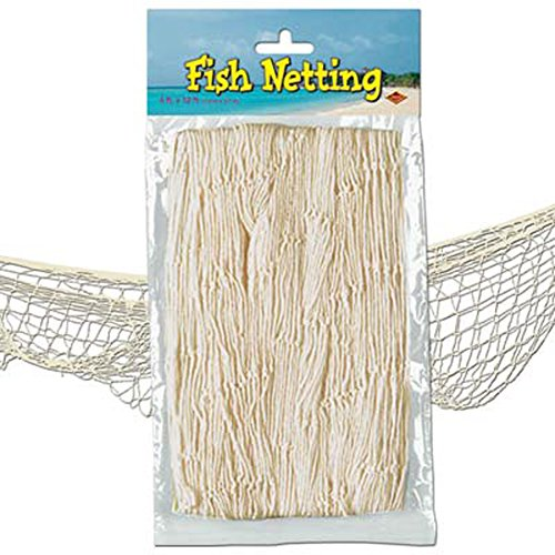 Nautical Fish Netting Party Decor 4' x 12' NATURAL (Fish Themed Party Supplies compare prices)