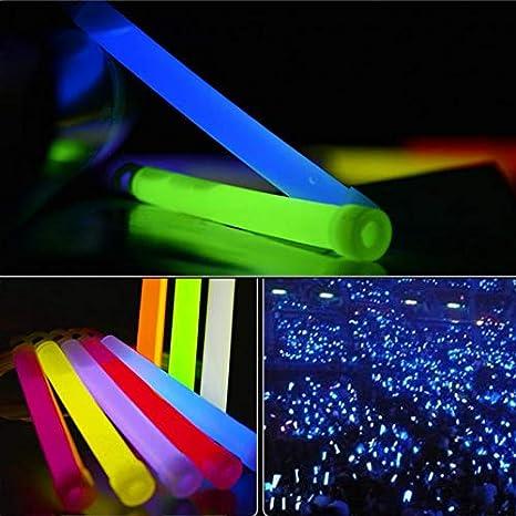 "25 Blue Premium Large 6/"" Long Thick Glow Sticks Neon Party Light Festival Lures"