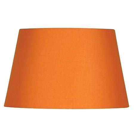Pantalla de lámpara naranja, 35 cm, de algodón, tambor duro ...