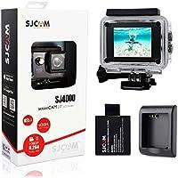 SJCAM Original SJ4000 Full HD1080p 12MP Diving Bicycle FPV Action Camera Sports DV Dash Camera with 2PCS Batteries and 1PCS Charger - Black