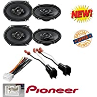 4 x PIONEER TS-A6886R 5 x 7/ 6 x 8 4-WAY COAXIAL SPEAKERS + FORD AFTERMARKET WIRE HARNESS STEREO + (70-1771) Metra 72-5600 Speaker Harness Connectors for Select Ford Chevy Lincoln (pair)