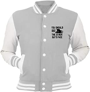 T-Shirtshock Giacca College Grigio WTC1117 Cool MMA Design