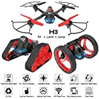 Kanzd 2.4G 6-Axis WiFi FPV Drone 0.3MP Camera Land-air-Jump 3Mode Assemble Deformation
