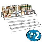 #6: mDesign Adjustable, Expandable Kitchen Cabinet, Pantry, Shelf Organizer/Spice Rack - 3 Level Storage - Up to 25