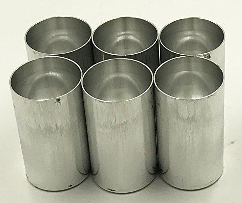 Candlewic 6pk of 2 x 3. 5'' Aluminum Candle Mold