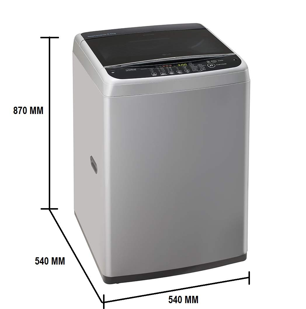 LG 6 5 kg Inverter Fully-Automatic Top Loading Washing Machine (T7581NDDLG,  Middle Free Silver)