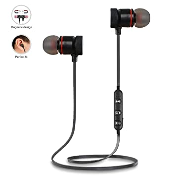 50a9212615b TECHPOOL Mini S6 Bluetooth Compatible Headset Wireless Sports Headphones  with Mic Sweatproof Earbuds, Best for