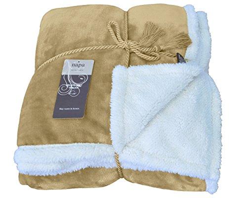 Napa Fleece Sherpa Blanket Reversible