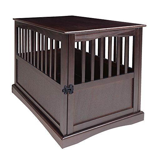 Casual Home 600-24 Wooden Pet Crate, Espresso, 27″ H