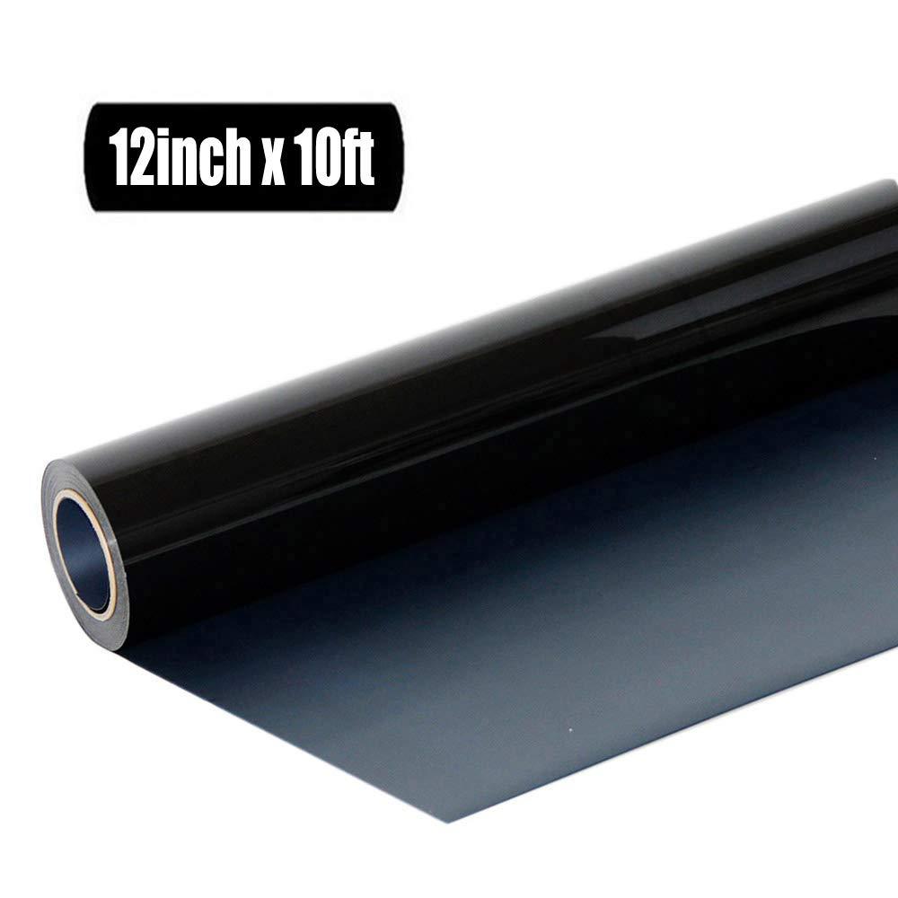 Heat Transfer Vinyl Roll HTV - 12 x10' (Black) Generic