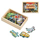 Melissa & Doug Wooden Vehicle Magnets in a Box