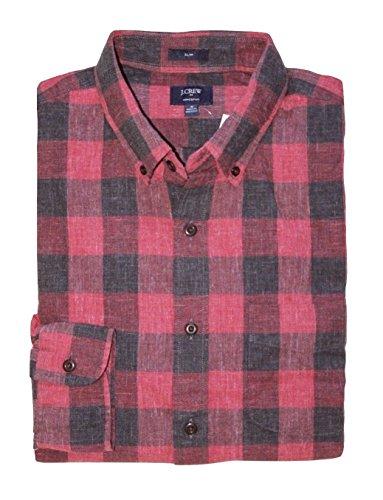 J Crew Factory - Men's Slim Fit - Buffalo Plaid Homespun Cotton Shirt (Medium) from J.Crew