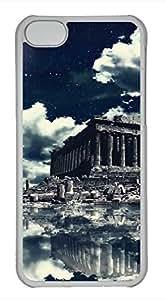 LJF phone case iPhone 5c case, Cute Akropolis-Wallpaper iPhone 5c Cover, iPhone 5c Cases, Hard Clear iPhone 5c Covers