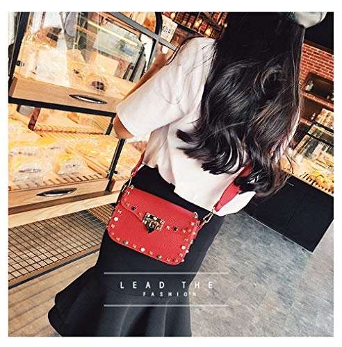 al para Rojo HCXIN Hombro Rojo Mujer Rojo Bolso t5n7CF7wq