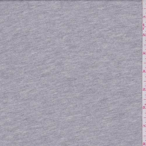 Heather Grey French Terry Knit, Fabric by The Yard
