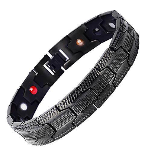 Sandistore Stainless Steel Magnetic Therapy Bracelet Pain Relief for Arthritis and Carpal Tunnel Therapeutic Energy Healing Bracelet