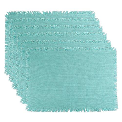 DII CAMZ10432 Placemats, Solid Aqua