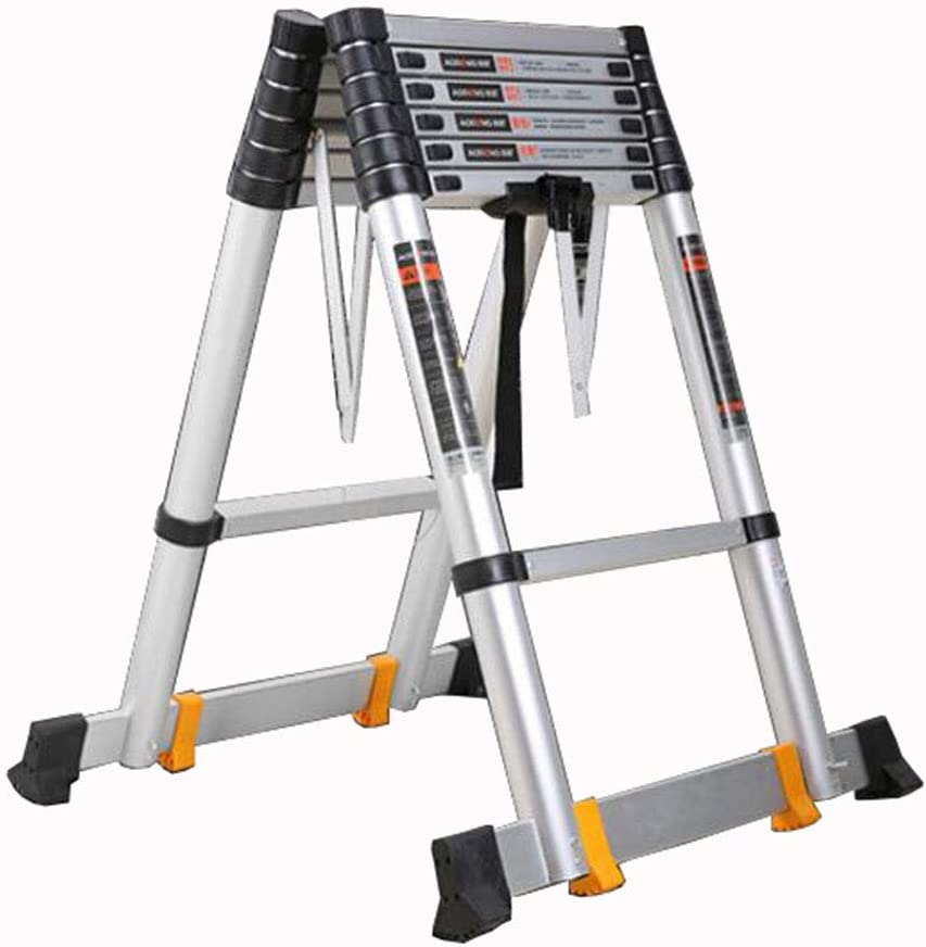 LJSJT Escalera Telescópica Escalera Tipo A Aleación de Aluminio Engrosada Seguro y a Salvo Peso del rodamiento 150kg Múltiples tamaños (Tamaño : 3+3m): Amazon.es: Hogar