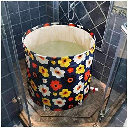 インフレータブルプールインフレータブルバスバケット折りたたみ家庭用大人用バスタブ大きくて厚い下のバスタブ子供用プール+浴槽カバープールインフレータブル