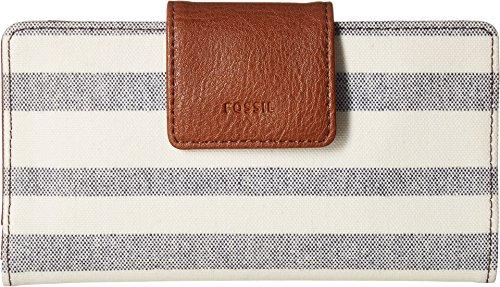 Fossil Emma Rfid Tab Wallet, Blue Stripe by Fossil