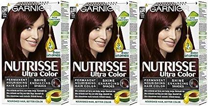 3 tintes permanentes Garnier Nutrisse Cream para el cabello ...