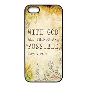 Bible Verse Use Your Own Image Phone Case for Iphone 5,5S,customized case cover ygtg620311