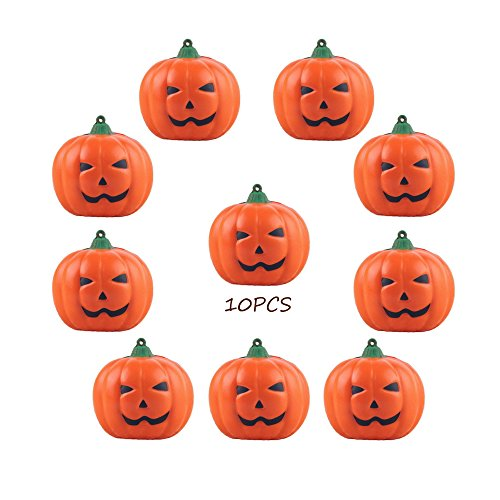 Conjugal Bliss 10PCS Artificial Mini Toys Vegetables Orange Halloween Pumpkins Kitchen Parties Home Photography Props Shopping Malls Festival Parties Decoratedations (Ninja Turtle Pumpkin Carving)