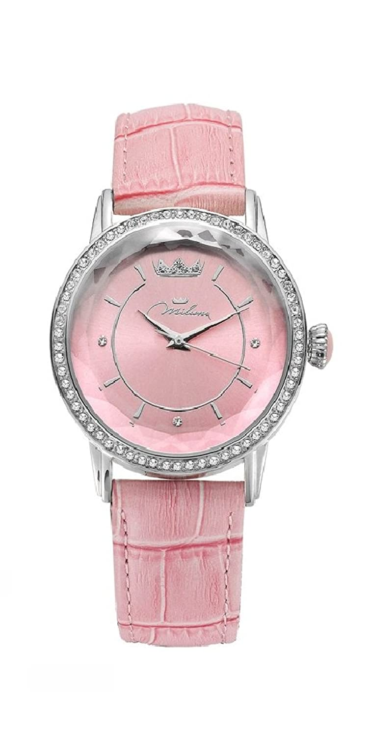 Uhr Damen Rosa Leder ORL1001_R35 Crystal Moments Xiao Yan