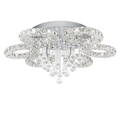 SAILUNR 88W LED Kaltweiss Deckenleuchte 6 Flammig Kristall Deckenlampe Flur Wohnzimmer Lampe Schlafzimmer Kche Energie Sparen Licht Wandleuchte