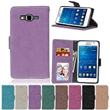 G530 Flip Case, Galaxy Grand Prime case, Samsung Galaxy Grand Prime Case Cover,YiLin PU Leather Flip Folio Wallet Case Cover for Samsung Galaxy Grand Prime - PURPLE