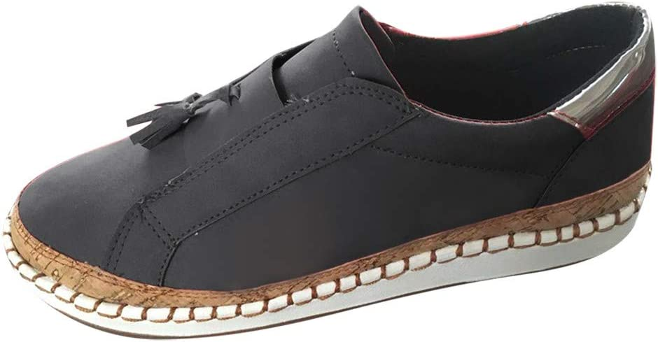 AG&T Zapatos de Lona Casuales de Mujer Zapatos Planos Barco ...