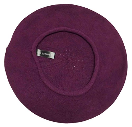 Parkhurst Of Canada 10-1/2 Inch Cotton Knit Beret (Inkberry Purple)