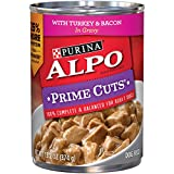 Purina ALPO Prime Cuts with Turkey & Bacon in Gravy Adult Wet Dog Food - (12) 13.2 oz. Cans