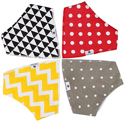[Baby Bandana Drool Bibs by Kevin Textile, Unisex 4-Pack Absorbent Organic Cotton, Best Baby Gift for Boys & Girls] (Munchkin Outfits)