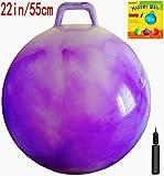 Space Hopper Ball with Air Pump: 22in/55cm Diameter for Ages 10-12, Hop Ball, Kangaroo Bouncer, Hoppity Hop, Jumping Ball, Sit & Bounce