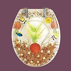 Toilet Seats Chrome Polymer Sandy Shore Round Toilet Seat